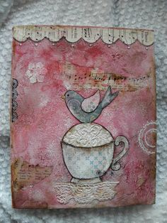 Lovely canvas with lots of different layers and textures