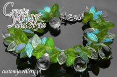 #Bransoletka z #koralików szklanych dostępnych na www.customjewellery.pl . Zapraszamy