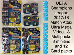 UEFA Champions League 2017/18 Match Attax Ultra Mega Video- 3 Multipacks 3 Minitins and 12 packets https://youtu.be/Wh5xvcyJomg