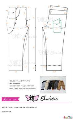 男童春装长裤80cm(裁剪图&缝制过程) - 成人服装教程 布流行手工网