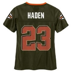 Cleveland Browns Girls' Joe Haden Glitter Numbers Jersey - Team Color XS, Multicolored
