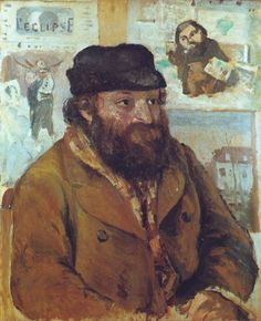 Camille Pissarro - Portrait of Paul Cezanne, 1874.