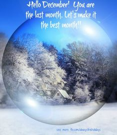 Hello December. You are the last month. Let's make it the best month!