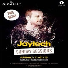 Jaytech at Gigalum, 7-8 cavendish parade, London, SW4 9DW, UK on Jan 11, 2015 at 4:00pm to 11:00pm.  This coming up this Sunday at Gigalum 11th January, we have a very special guest DJ/Producer Jaytech join us. Promises us a journey through lush electronic grooves, sunny progressive vibes and classy peak-time anthems.  Category: Nightlife  Price: Free  Artists: jaytech, above n beyond