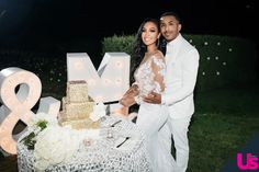 White Wedding Suit, White Wedding Flowers, White Wedding Dresses, Wedding Gowns, Celebrity Wedding Photos, Celebrity Weddings, Newly Married, Just Married, Marques Houston