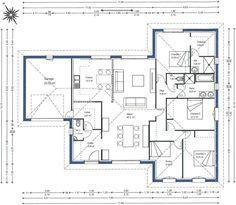 plan de maisongironde 33 cuisine gauche - Plan Architecture Maison 100m2