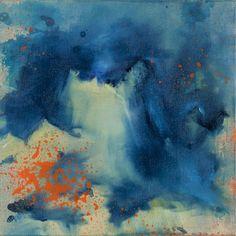 Beatrice Richter: Anemone. Acryl, Tusche und Öl auf Leinwand #abstrakt #Malerei #Seeanemone #beatricerichter #startyourart www.startyourart.de