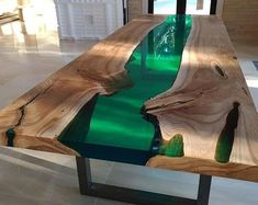 Diy Resin Table, Epoxy Table Top, Epoxy Wood Table, Beauty Table, Garden Table, Balcony Garden, Live Edge Table, Decoration Table, Walnut Wood