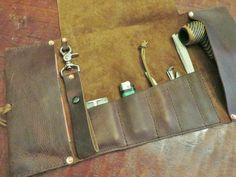 Aficionado Leather Pipe & Tobacco Roll by CharredEmbersandOak