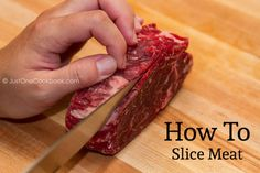 Japanese cuisine uses a lot of sliced meat, here is how to slice a block of meat for Japanese recipes.