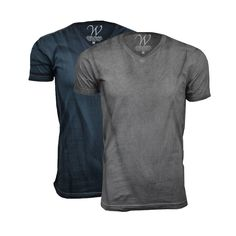 Ultra Soft Hand Dyed V-Neck // Charcoal + Grey // Pack of 2 (S)