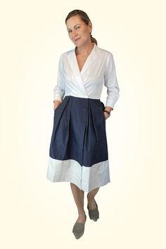Meine Topfavoriten bei den Blusenkleidern - die Modelle der Stardesignerin Sara Roka. Die Kleider kann man mit den unterschiedlichen Schärpen immer wieder neu für sich erfinden. Das Label Sara Roka ist für mich die 1 Pice - perfect Look Marke. Mehr gibts auf www.strauch.at Dresses Online, Must Haves, Designer, Midi Skirt, Tops, Skirts, Fashion Trends, Blouse, Skirt