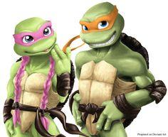 TMNT Michelangelo and Amoly by propimol.deviantart.com on @deviantART