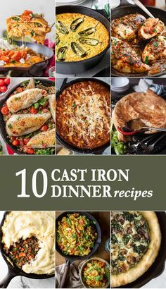 A Cast Iron Skillet Is A Staple In Any Kitchen. It's Great For Making Pizza, Frying Chicken, Or Cooking Casseroles. Today We're Sharing 10 Cast Iron Skillet Dinners You'll Want To Make Again And Again All Year Long Enjoy Via Beckygallhardin Cast Iron Skillet Cooking, Iron Skillet Recipes, Cast Iron Recipes, Skillet Dinners, Cast Iron Chicken, Dutch Oven Cooking, Dutch Oven Recipes, Cast Iron Dutch Oven, Cooking Recipes