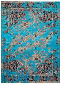 Serapi Queensbury Double Sky rug by JAN KATH (NYC)