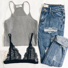 Stevie Knit Tank, Olivia Pants and Lacie Bralette this is all you need