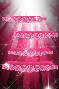 I Think This Is Supposed To Be Like Shelves But Its Pink And Sparkly So It Home Screen Wallpaper