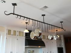 Blacksmith : Custom Designed Kitchen Pot Racks and Shelves : Hand Forged Steel