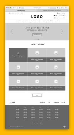 This is my portfolio project for e-commerce web. I am trying to do a minimal e-commerce web wireframe. So, here I am with my idea of minimal e-commerce. Web Banner Design, Layout Design, Wireframe Design, Website Design Layout, Web Design Tips, Web Layout, Interface Design, Wireframe Web, Blog Layout