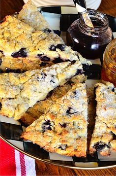 Love this recipe because it uses FROZEN blueberries. Always have what I need on hand. Fresh Blueberry Scones - great for overnight guests. ReluctantEntertainer.com