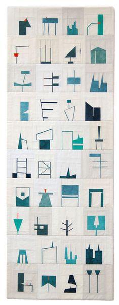 erin wilson / quilt / shape studies / 2011