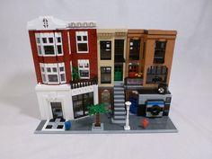 Fashion store, apartments and photo developing store. Lego 4, Lego Duplo, Lego Plane, Modele Lego, Lego Building Blocks, Lego Trains, Lego Modular, Lego Construction, Cool Lego Creations