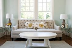 Benjamin Moore Palladian Blue, room by Cailtlin Creer