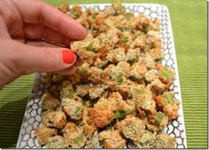 Crunchy Baked Okra - Hungry Meets Healthy