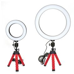 Photography LED Selfie Ring Light three-speed Stepless Lighting Dimmable With Cradle Head For Makeup Video Live Studio Selfie Ring, Led Selfie Ring Light, Led Ring Light, Emerald Wedding Rings, Wedding Ring Bands, Ring Light Photography, Beach Photography, Accessoires Iphone, Cheap Earrings, Phone Cases