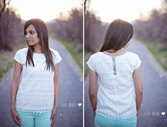 Lace top with exposed zipper detail TUTORIAL
