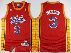 canotte nba poco prezzo Philadelphia 76ers Iverson # 3 rosso