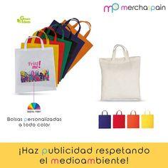 ¡Utiliza bolsas reutilizables para hacer #publicidad y respetar al medioambiente al mismo tiempo!  www.merchaspain.com  #Sinbolsasdeplástico #bolsas #bolsaspersonalizadas #bolsasdetela #merchandising #bolsasdecompra #bags #Mallorca #Palmasenseplàstic