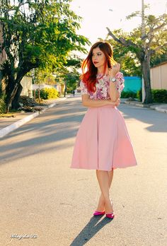 Blog da Lê-Moda e Estílo: Look - Midi pink