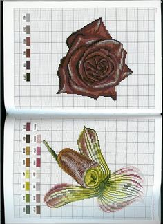 Gallery.ru / Фото #17 - 028 - Yra3raza Cross Stitch Needles, Cross Stitch Rose, Cross Stitch Flowers, Cross Stitch Charts, Cross Stitch Patterns, Pixel Crochet, Chocolate Roses, Embroidery Stitches Tutorial, Cross Stitch Collection