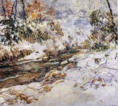 Edward+Willis+Redfield+%28American+painter%2C+1869-1965%29+Winter+Wonderland+1917.jpg (640×575)