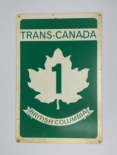 Trans Canada Highway, Highway Road, Man Cave Gifts, British Columbia, Road Trip, Indoor, Steel, Usa, Signs