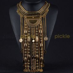 Chunky Long Gold Necklace
