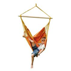 Huśtawka hamakowa dla dzieci Relax Orange Amazonas
