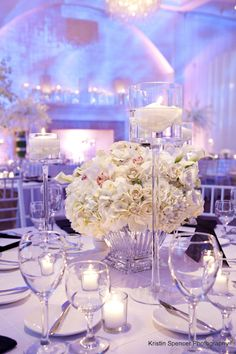 577 best white cream ivory wedding flowers images on pinterest belle mer newport love the candles and centerpieces but instead filled with peonies and short wedding centerpieceswhite flower mightylinksfo