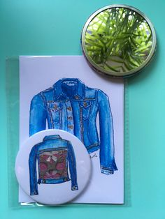 A personal favourite from my Etsy shop https://www.etsy.com/uk/listing/579135770/double-denim-card-and-compact-murror