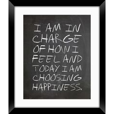 I am in charge of how I feel and today I am choosing happiness ❤️☀️