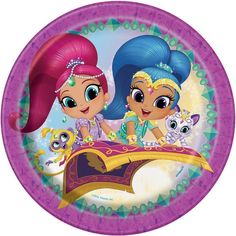 Includes 8 paper party plates. Each plate measures 9 in diameter.