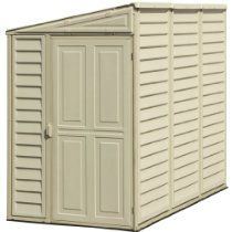 DuraMax Model 00611 4x8 SideMate Vinyl Storage Shed (Discontinued by Manufacturer) // Description DuraMax Model 00611 4'x8' SideMate Vinyl Shed leans against the side of your house or garage with enough high head room for tall gardening tools, 8 feet of depth for a large 154 cubic feet of storage space in a narrow corridor of your home and has a 30 door opening. Optional foundation kit and window// read more >>> http://Cyr630.iigogogo.tk/detail3.php?a=B0001NLOQU