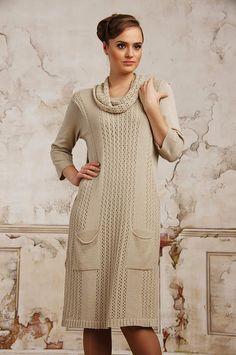Hand Knit Women dress,sweater coat aran jacket women made to order hand knitted women's dress sweater cardigan pullover clothing handmade
