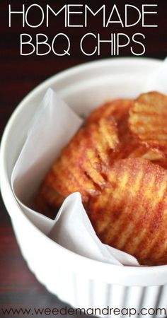 Homemade BBQ Chips from Weed 'Em And Reap #barbecue #grilling