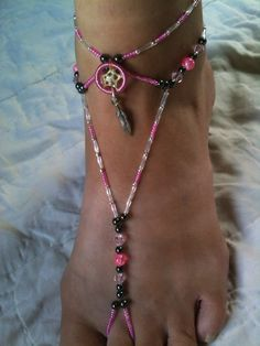 ankle aimeezartz glow dreamcatcher the by pin anklet in dark dream catcher