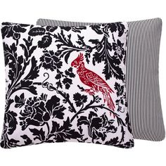 Cardinals in the Night Throw Pillow Cover 18x18"