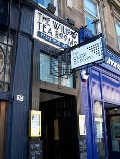 Architect Charles Rennie Mackintosh (1868-1928) designed the Willow Tea Rooms in Scotland