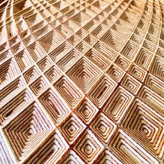Using the precise cutting head of a CNC machine, artist Michael Anderson carves incredibly beautiful geometric patterns and textures into pieces of plywood. Wood Carving Designs, Wood Carving Tools, Wood Carvings, Used Cnc Machines, Plywood Art, Wood Patterns, Geometric Patterns, Cnc Woodworking, Woodworking Basics