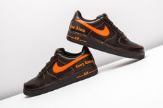 JUST IN: VLONE & NikeLab deliver their highly anticipated AF1 with tumbled black leather and orange accents.  http://www.stadiumgoods.com/nikelab-x-vlone-air-force-1-black-orange-aa5360-001  #Nike